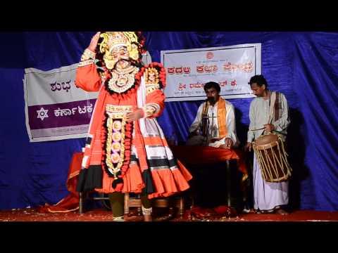 Yakshagana Nodidanu Kalirakthabeejanu Padya By Prasad Balipa video