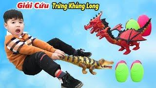 Trò Chơi Cá Sấu Lấy Trứng Khủng Long ♥ Min Min TV Minh Khoa