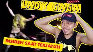 Reaksi lihat Gaga terjatuh   REACTION Lady Gaga Fall & Failed in concert