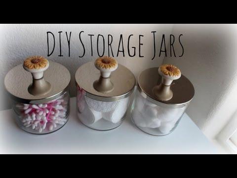 diy storage jars using bath and body works candle jars youtube. Black Bedroom Furniture Sets. Home Design Ideas