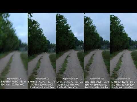 GoPro Hero 8   Hypersmooth 2.0   Stabilizzare con poca luce   Low lights stabilizazion