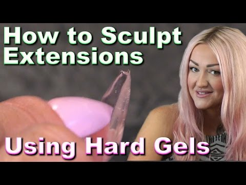 How to Sculpt Hard Gel Nail Extensions