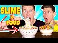 Making FOOD out of SLIME!!! Learn How To Make DIY Slime Food vs Real Edible Candy Food Challenge