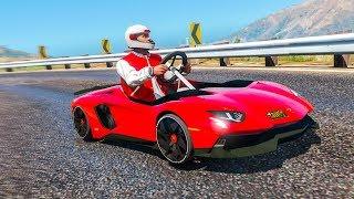 GTA 5 LAMBORGHINI GO KART! (GTA V Mods)