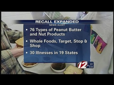 Peanut Butter Recall Expands