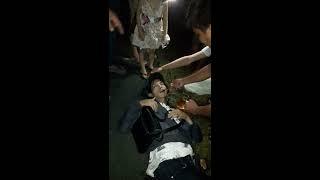 Tai nạn xe máy tại cây xăng sơn vuy ( hậu giang)
