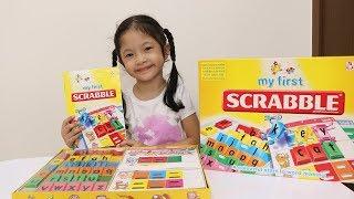 Bé Trâm Anh Học Bảng Chữ Cái Tiếng Anh - My First Scrabble - AnhAnhchannel