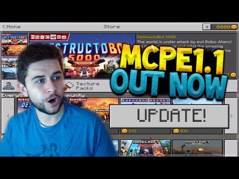 MCPE 1.1 OUT NOW!! Minecraft Pocket Edition - UPDATE 1.1 Released! All New Features (Pocket Edition)