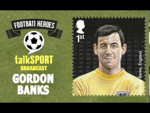Royal Mail Football Heroes Stamps -- talkSPORT: Gordon Banks