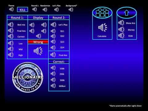Who Wants To Be A Millionaire Shuffle Soundboard video