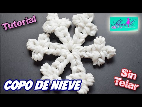 ♥ Tutorial: Copo de Nieve de gomitas (sin telar) ♥