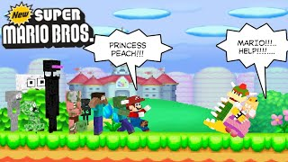 Monster School HELP MARIO TO SAVE PRINCESS PEACH - Minecraft Animation