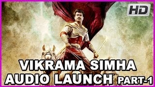 Vikrama Simha - Rajinikanth's Vikrama simha (kochadaiyaan) Latest Telugu Movie Audio Launch Part-1- HD