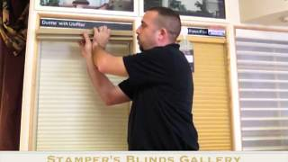 How to Remove and Reinstall a Cordless Hunter Douglas Honeycomb Shade by Stamper's Blinds Gallery