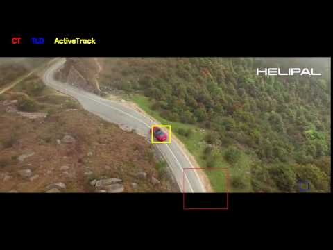 Phantom 4 Active Track algorithm test and comparison: car mountain driving