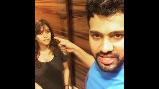 Rohit Sharma And His Wife Ritika Sajdeh Funny Video || Rohit Sharma And Ritika Sajdeh