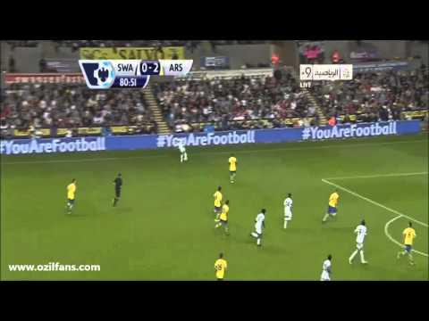 Swansea City vs Arsenal 1-2 28/10/2013 www.ozilfans.com