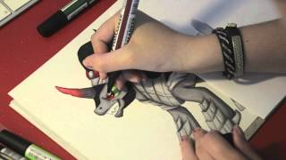 Speed drawing MLP - King Sombra
