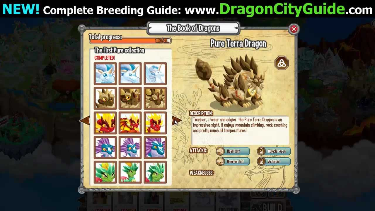 Dragon City All Dragons in The Book of Dragons Attacks and Weakness