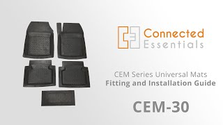 Heavy Duty Rubber Cut to Size Universal Car Floor Mats With Raised Edges