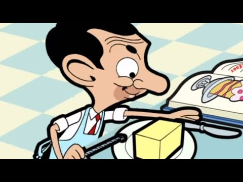 Mr Bean - Bakes a cake Video