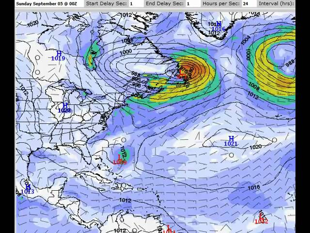 GFS Model Forecast for the Atlantic