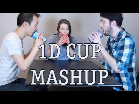 One Direction Cup Song Mashup - What Makes You Beautiful / One Thing / Kiss You