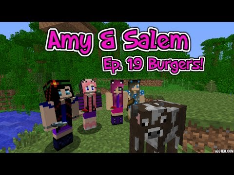 Minecraft PC Amy & Salem Ep.19 Burgers!