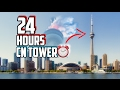 (457 METERS!) 24 HOUR OVERNIGHT IN THE CN TOWER | OVERNIGHT CHALLENGE IN THE WORLDS TALLEST BUILDING
