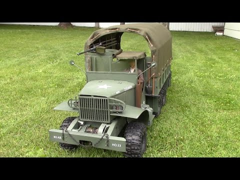RC 1/6 scale GMC CCKW 2-1/2 Ton WWII TRUCK (Deuce)