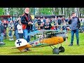 HUGE RC SCALE MODEL BIPLANE GERMAN ALBATROS D.V 1.WK BEAUTIFUL FLIGHT DEMONSTRATION