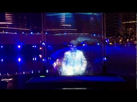 The Dubai Fountain Water Light And Fire Show 2013 video