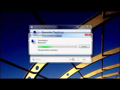 Windows 7 - Access another computer using Remote Desktop