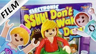 Playmobil Film deutsch   DON'T WAKE DAD Challenge - EMMA VS HANNAH   Kinderserie Familie Vogel