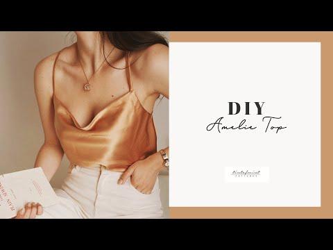 DIY Amelie Cowl Neck Top Tutorial - tintofmintPATTERNS - YouTube