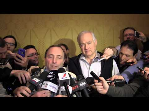 NHL/NHLPA reach deal – Bettman and Fehr speak: video