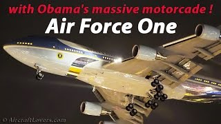 Air Force One│Awesome Night Landing│Obamas last visit in Germany