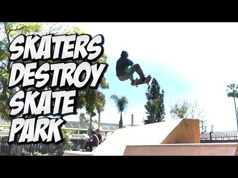SKATERS DESTROY AMAZING SKATE PARK !!! - A DAY WITH NKA -