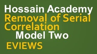 Removal of Serial Correlation. Model Two. EVIEWS
