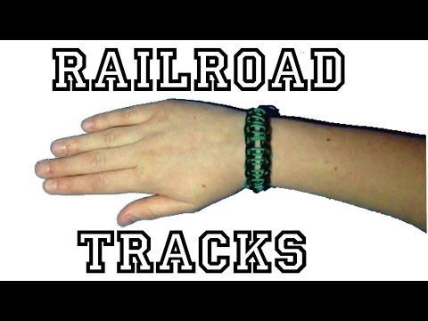 Rainbow Loom Bracelet - How-To Make A Railroad Track Bracelet !!!
