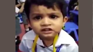 Funny cute Indian boy singing song | Indian Funny Baby Videos | Funny Baby Clips 2017
