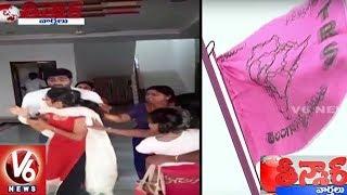 TRS Leader Srinivas Reddy Outrage On His Wife Sangeetha | Teenmaar News