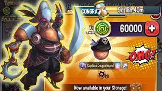 Monster Legends Captain copperbeard Limited maze path cost 3090 get egg