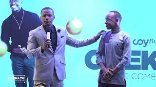 CHEKA TU,(SO1EP4)comedy bora ya mwaka 2017 MC LUKINGA kwenye stage ya cheka