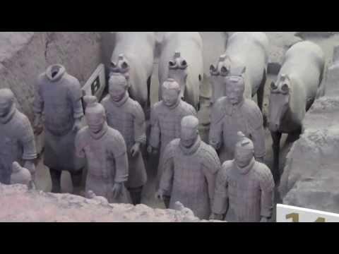 01 Qin Shi Huang's terracotta army & horses in Xian museum as seen on July 2011