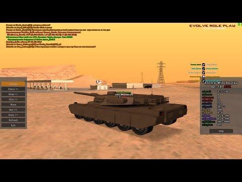 На танке по городу - админка Evolve-RP.