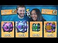 x4 LEGENDARIES! OPENING x2 CLAN CHESTS & SUPER MAGICALS! | Clash Royale | MY WORST CHEST OPENING?