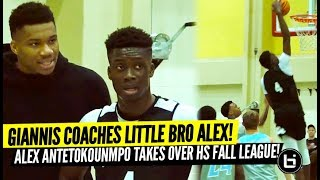 Giannis Antetokounmpo Coaches Up Little Bro Alex! Alex Antetokounmpo Scoring at Will?!