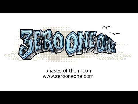 Phases of the Moon 3D animation