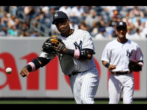 Yankees Robinson Cano And Derek Jeter Fielding GroundBalls HD
